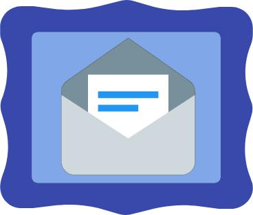 Envelope in frame